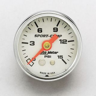 "Auto Gage Mechanical Pressure Gauge 1 1 2"" Dia Silver Face 2178"