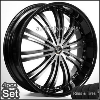 "22x8 5"" Wheels Tires Lexus Altima Maxima Montecalo Rims"