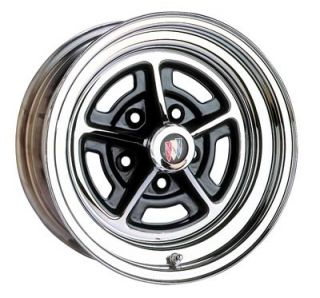 Wheel Vintiques 57 Series Buick Style Chrome with Black Powdercoated Slot Wheel