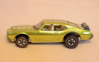 1971 Mattel Red Line Hot Wheels Olds 442 Gold 6467