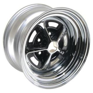"Wheel Vintiques 52 Olds SS1 Chrome w Black Powdercoated Slot Wheel 15""x8"" Pair"