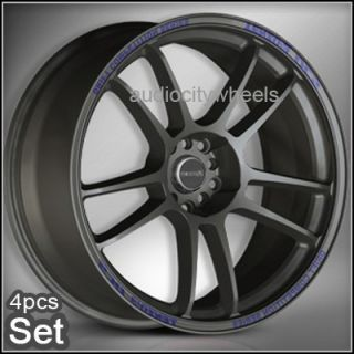 "17"" inch Tenzo DC5 Charcoal Grey Wheels Rims Lexus"