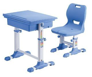 ST 2011 Childrens Height Adjustable Desk and Chair Set   ~3 Year Old and Up (Blue)   Adjustable Height Kid Chair