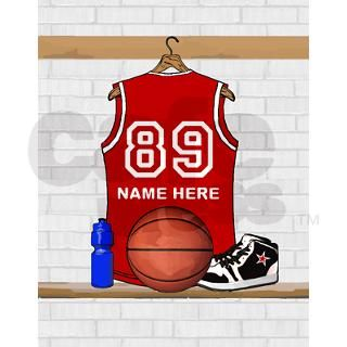 Personalized Basketball Jerse Note Cards (Pk of 10 by auslandgifts