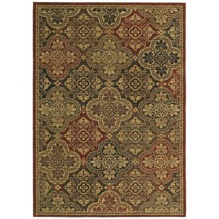 Tommy Bahama Home Rugs Multicolored Moroccan MosaicTransitional Rug (3?6 x 5') Tommy Bahama 3x5   4x6 Rugs