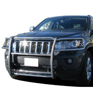 Premium Custom Fit 2011 2012 Jeep Grand Cherokee Grille Saver Bumper Brush Guard Stainless Steel Automotive