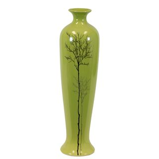 Urban Trends Collection Large Shiney Green Ceramic Vase Urban Trends Collection Vases
