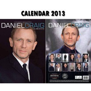 DANIEL CRAIG CALENDAR 2013 BY RED STAR + FREE DANIEL CRAIG FRIDGE MAGNET   JAMES BOND 007 STAR CALENDAR