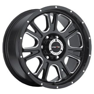 17 inch 17x8.5 Vision Off Road Fury Gloss Black Milled Spoke wheel rim; 6x5.5 6x139.7 bolt pattern with a +0 offset. Part Number 399 7883MS0 Automotive