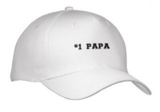 InspirationzStore Typography   #1 Papa   Number One Papa   for great and best dads   black college font text   good for Fathers Day   Caps   Adult Baseball Cap Clothing