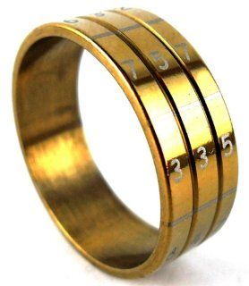 Thaipradub Jewelry Love Gold Number Stainless Steel Ring for Men, Gold Size 4.5 Jewelry