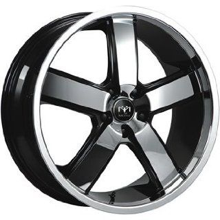 Motiv Magnum 22 Chrome Black Wheel / Rim 5x4.5 with a 15mm Offset and a 83.82 Hub Bore. Partnumber 403CB 2296515 Automotive