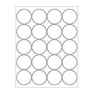 "(12 SHEETS) 240 2"" BLANK WHITE ROUND CIRCLE PRINTABLE STICKERS FOR INKJET & LASER PRINTERS ~ SIZE 8 1/2""X11"" STANDARD SHEETS  Printable Labels"