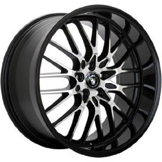Konig Lace 18x8 Black Wheel / Rim 5x4.5 with a 45mm Offset and a 73.00 Hub Bore. Partnumber 16MB LA88514455 Automotive
