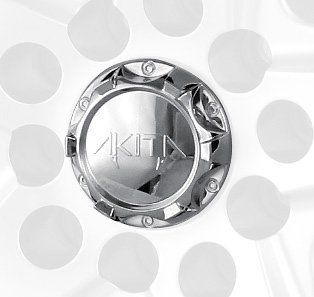 Mr. Lugnut C10410 Chrome Plastic Center Cap Cap for Akita Wheels Automotive