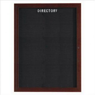 "Enclosed Aluminum Directory with Wood Look Finish Frame Color Walnut Wood, Number of Doors One, Size 24"" H x 18"" W"