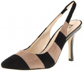 AK Anne Klein Women's Zaria Suede Pump,Black/Taupe,5.5 M US Shoes