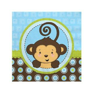 Monkey Boy   Baby Shower Beverage Napkins   16 ct Toys & Games