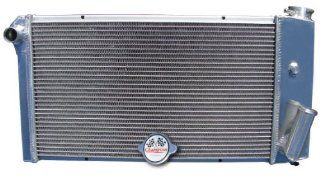 3 Row All Aluminum Replacement Radiator for the 1971 77 Chevy Vega, 1975 76 Pontiac Astre, Chevy Vega Replacement Radiator, Pontiac Astre Replacement Radiator   Manufactured by Champion Cooling Systems, Part Number 432 Automotive
