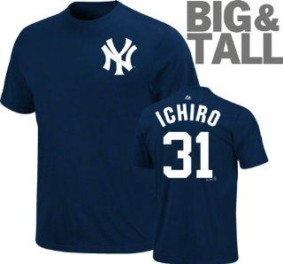 Ichiro Suzuki #31 Big & Tall New York Yankees Name and Number T Shirt (6X Big )  Sports Fan Apparel  Sports & Outdoors