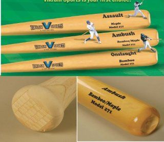 Brand NEW 2014 Ambush Bamboo / Maple Hybrid Adult Baseball Bat (Model 271) 33 Inch 30 Oz ( 3) by Vikram Sports at Factory Direct Price Sports & Outdoors