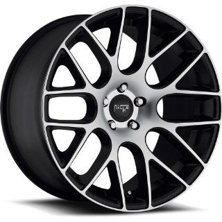 Niche Circuit 20 Machined Black Wheel / Rim 5x4.5 with a 35mm Offset and a 72.60 Hub Bore. Partnumber M108208565+35 Automotive