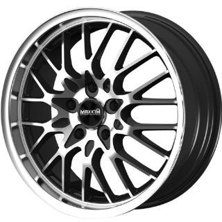 Maxxim Chance 17 Machined Black Wheel / Rim 5x112 & 5x4.5 with a 40mm Offset and a 73.10 Hub Bore. Partnumber CN77T24405 Automotive