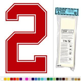 Varsity Number 2   Sports Kids Room   Vinyl Sticker Decal Wall Art Decor   Dark Red  Business And Store Signs