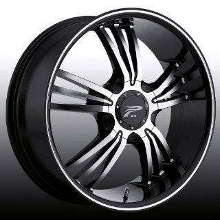 Platinum Wolverine 17 Black Wheel / Rim 5x120 & 5x4.5 with a 42mm Offset and a 74 Hub Bore. Partnumber 122 7707B+42 Automotive