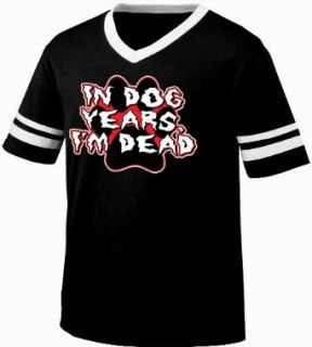 In Dog Years I'm Dead Funny Mens Ringer T shirt, Hilarious Old Age Dog Years Design Men's Ringer Shirt Clothing
