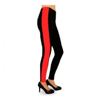 Hot Sox Dream Collection SIDE PANEL LEGGINGS in Black/Red Size Small Clothing
