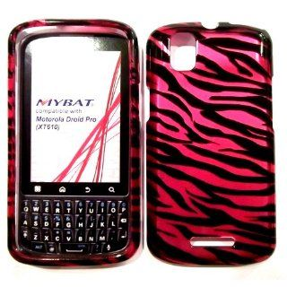 Hard Plastic Snap on Cover Fits Motorola XT610 A957 Droid Pro 2D Hot Pink/Black Zebra Skin Verizon (does not fit Motorola A955 Droid II) Cell Phones & Accessories