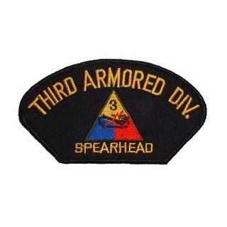 "US Army Military Armed Forces Large Hat or Shirt Iron On Patch   3rd Armored Division ""Spearhead"" Applique Clothing"