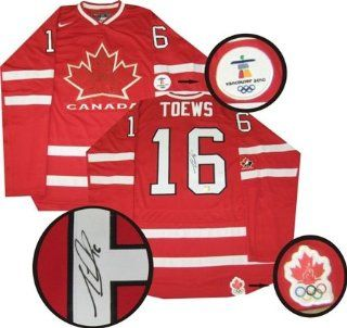 Jonathan Toews Autographed/Hand Signed Jersey Team Canada Replica Dark
