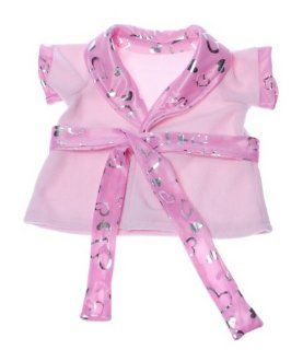 "Pink Shimmer Lingere Robe Teddy Bear Clothes Outfit Fits Most 14""   18"" Build A Bear, Vermont Teddy Bears, and Make Your Own Stuffed Animals Toys & Games"