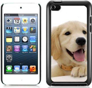 Golden Retriever Pets Dog Hard Plastic and Aluminum Back Case For Apple iPod Touch 4 4th Generation With 3 Pieces Screen Protectors Cell Phones & Accessories