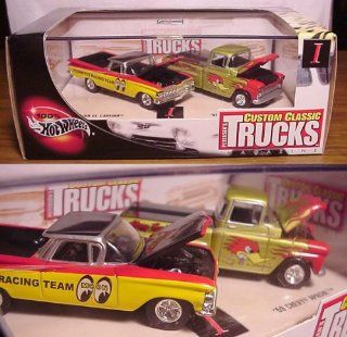 '59 EL CAMINO & '69 CHEVY APACHE * Limited Edition * Hot Wheels 2002 PETERSEN'S CUSTOM CLASSIC TRUCKS MAGAZINE 164 Scale 2 Car Custom Vehicle Box Set Toys & Games