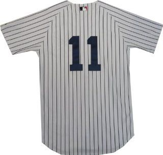 New York Yankees Brett Gardner Authentic Home Jersey (60) Sports & Outdoors