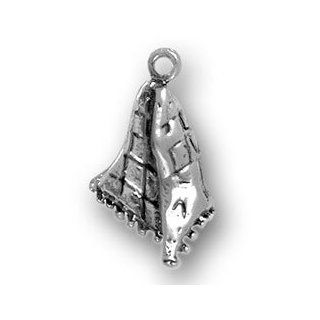 Sterling Silver 3D Baby And Toddler Comfort Sleeping Blanket Charm Jewelry