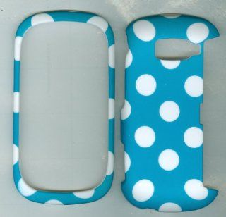 Lg Octane Vn530 (Verizon) Turquoise Polka Dot Skin Hard Case/cover/faceplate/snap On/housing Cell Phones & Accessories