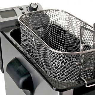 Wolfgang Puck 1800 Watt 4 Liter Digital Deep Fryer with Oil Drainage System