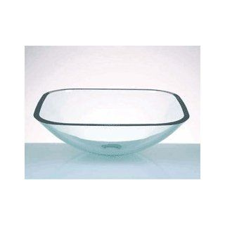 DEROSE DESIGNS Square Glass Vessel Lavatory Sink DD 14