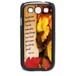 George Cooper Famous Fall Autumn Leaves Poem Samsung Galaxy S3 I9300 Hard Phone Case Cell Phones & Accessories