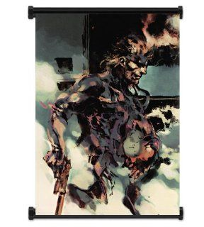 "Metal Gear Solid 2 Sons of Liberty Game Fabric Wall Scroll Poster (31""x42"") Inches"