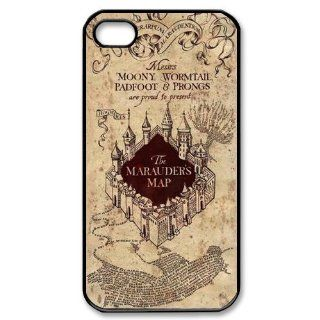 Personalized Harry Potter Marauders Map Hard Case for Apple iphone 4/4s case BB082 Cell Phones & Accessories