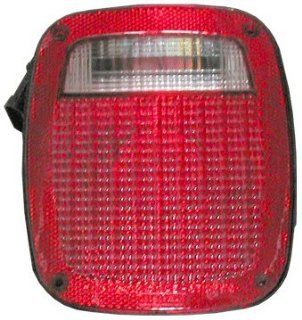 OE Replacement Jeep Wrangler/Sahara Passenger Side Taillight Assembly (Partslink Number CH2801120) Automotive