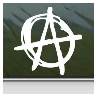 ANARCHY SYMBOL White Sticker PUNK Car Vinyl Window Laptop White Decal   Automotive Decals