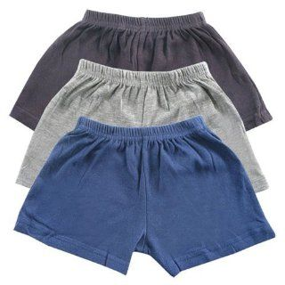 Luvable Friends Shorts 3 Pack, Gray, 6 9 Months New Born, Baby, Child, Kid, Infant Baby