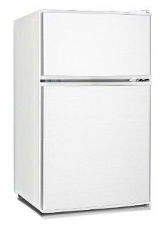 Midea HD 113F Full Size Double Reversible Door Refrigerator and Freezer, 3.1 Cubic Feet, White Appliances