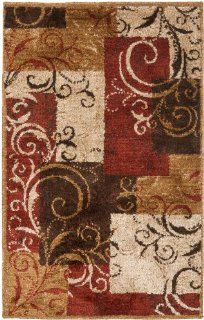 Safavieh KAS113A Kashmir Collection Area Rug, 4 Feet by 6 Feet, Camel Beige   Machine Made Rugs